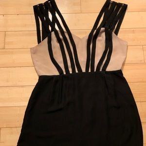 Multi strap mini dress